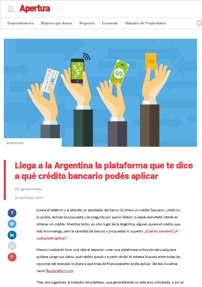 Revista Apertura Argentina